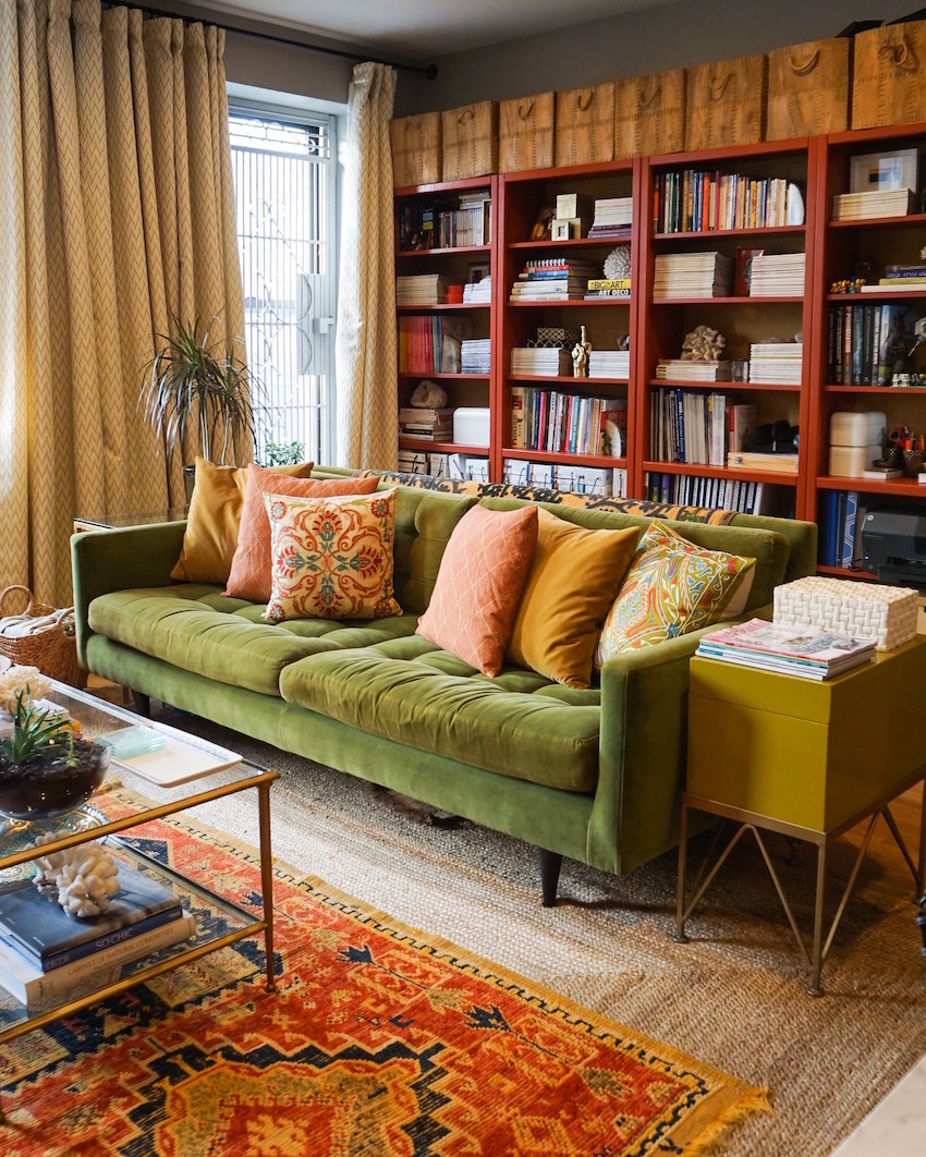 A Harlem Rental that Fearlessly Embraces the Color Wheel | Design*Sponge