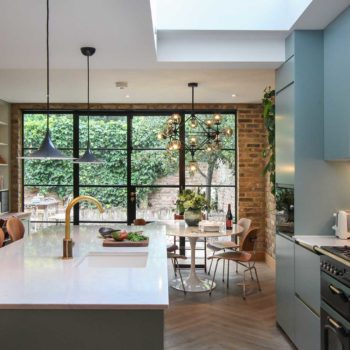 A Speedy Renovation in London Honors the Past with Color & Texture
