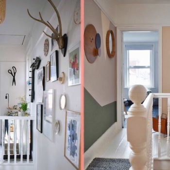 Before & After: A Graphic Hallway Packs A Color Punch