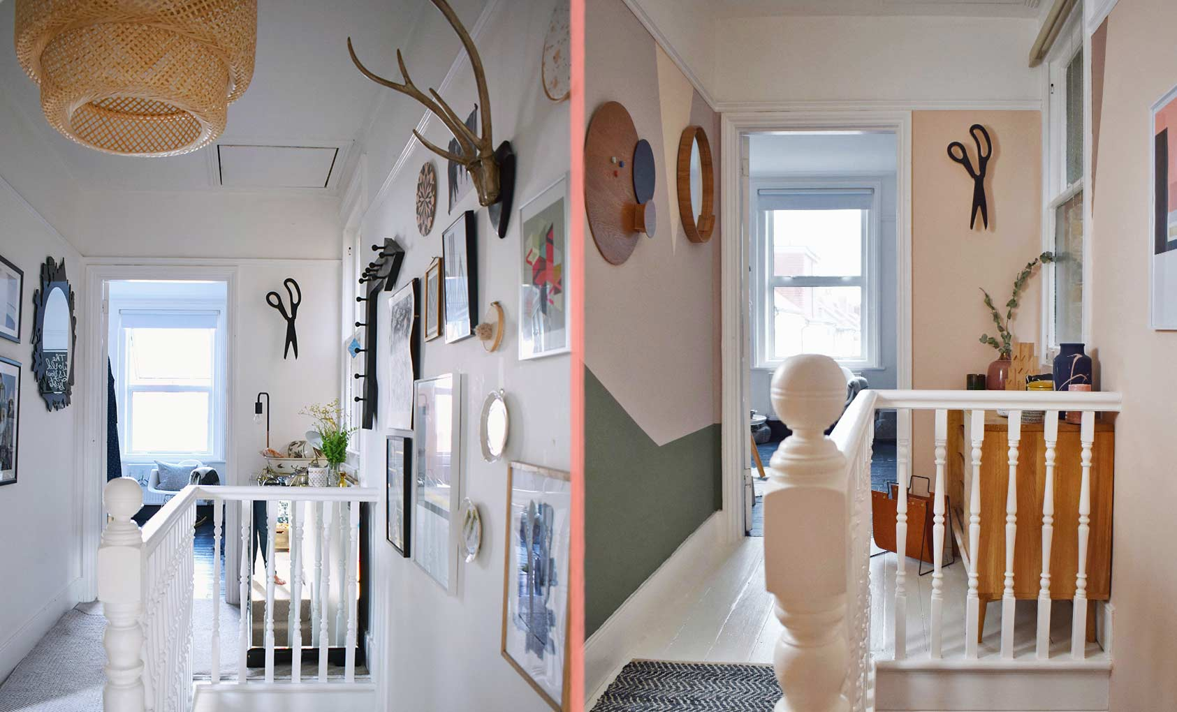 Before & After: A Graphic Hallway, Design*Sponge