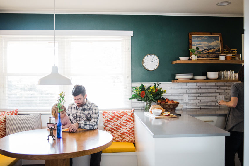 Kitchen Nook And Extended Countertops Shine In Tulsa Kitchen Before And After On Design*Sponge