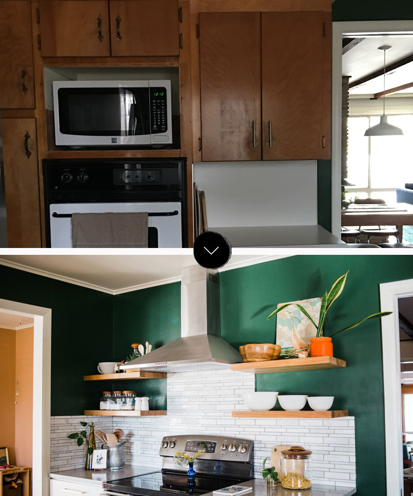 Before And After Kitchen In Tulsa Stove Remodel On Design*Sponge