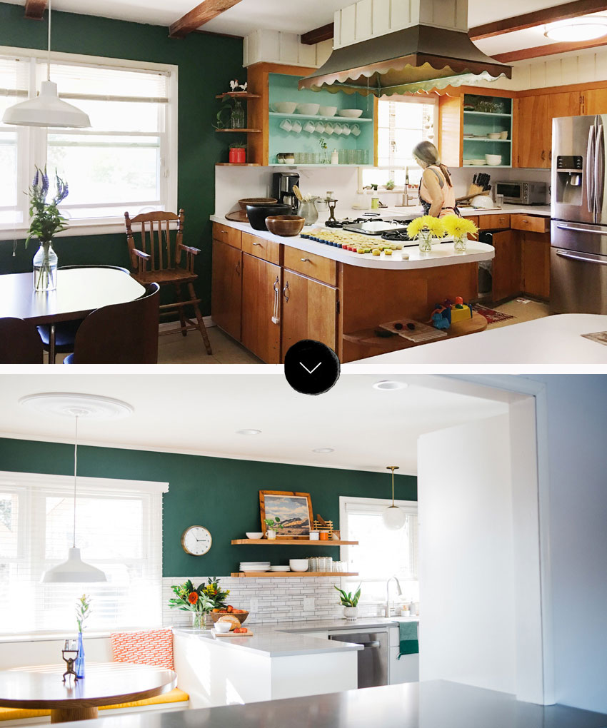 Before And After Tulsa Kitchen That Added Function And Style On Design*Sponge