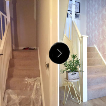 Before & After: A Hallway Gets A New, Beachy Look