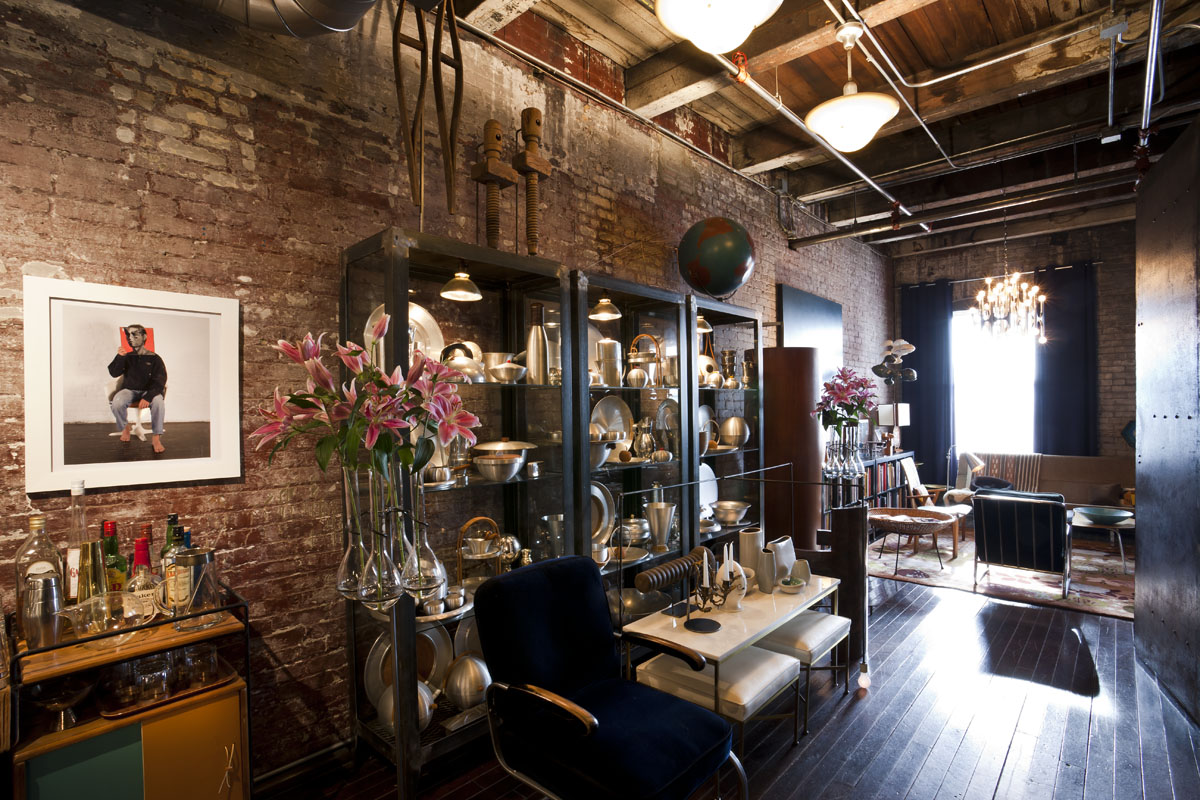 An Industrial Loft for Museum Directors & Avid Collectors via Design*Sponge