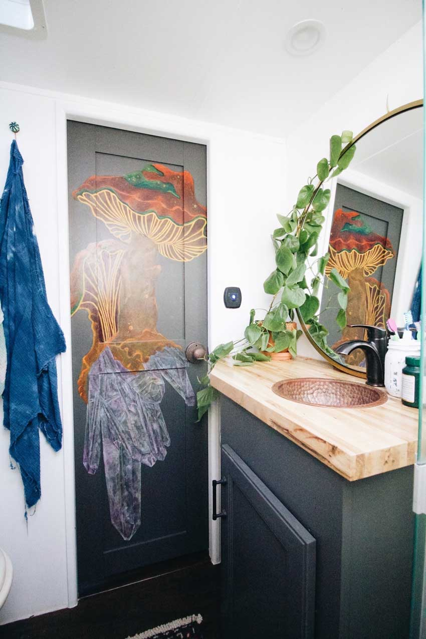 The Petite Trailer Bathroom Is Artfully Adorned Tour On Design*Sponge