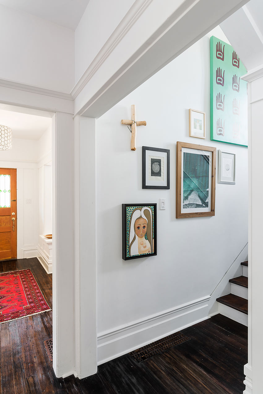 The Newly Reopened Stairwell Of This Victoria Home Tour On Design*Sponge