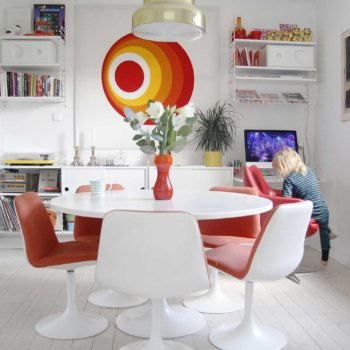 A Colorful House In Sweden That Grew to Welcome Family