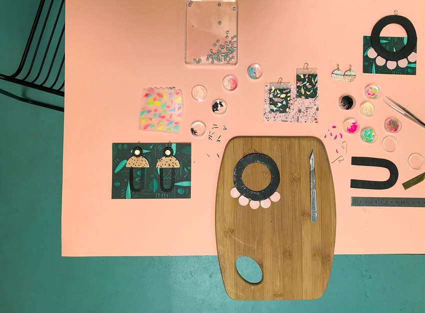 Details Of The Process Of Creating One Of Peaches+Keen's Pieces On Design*Sponge