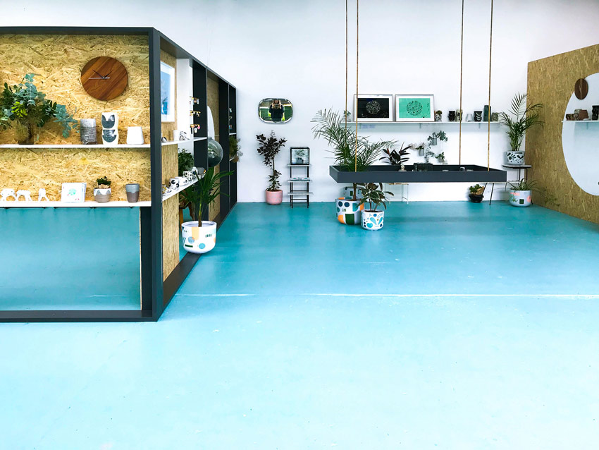 Colorful Floors Inspired By The Team's Love Of Nature Shop Tour On Design*Sponge