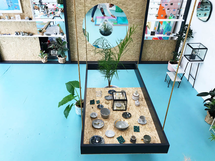 An Arial View Of The Botanical Calamity Retail Area Tour On Design*Sponge