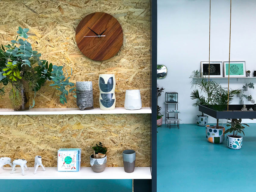 Retail Display For Local Artists That The Shop Carries The Full Tour On Design*Sponge
