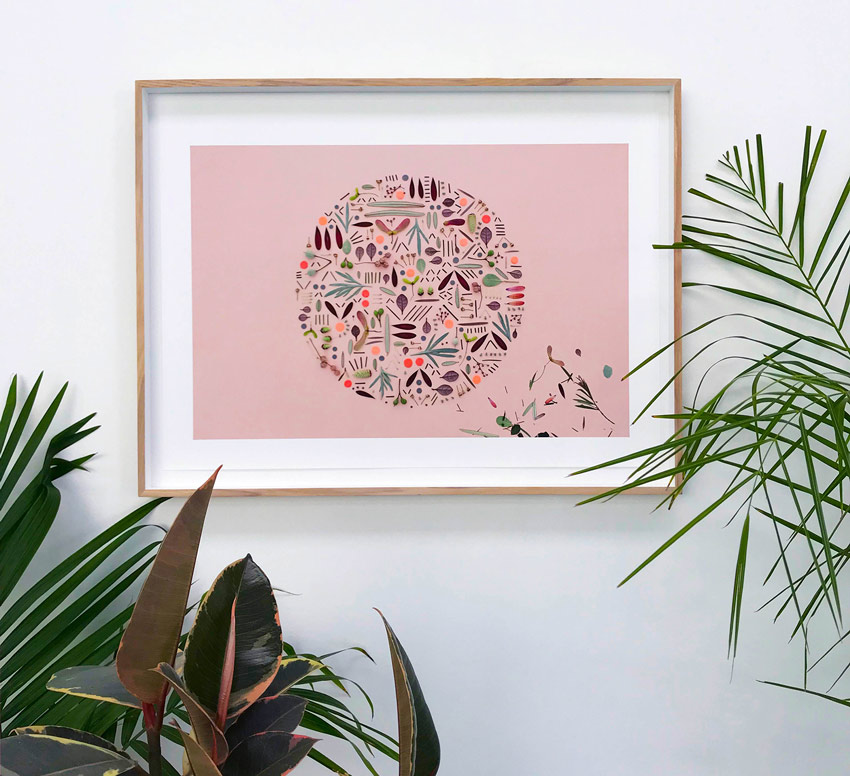 Close-Up Of One Of Peaches+Keen's Deconstructed Botanical Art Pieces Tour On Design*Sponge