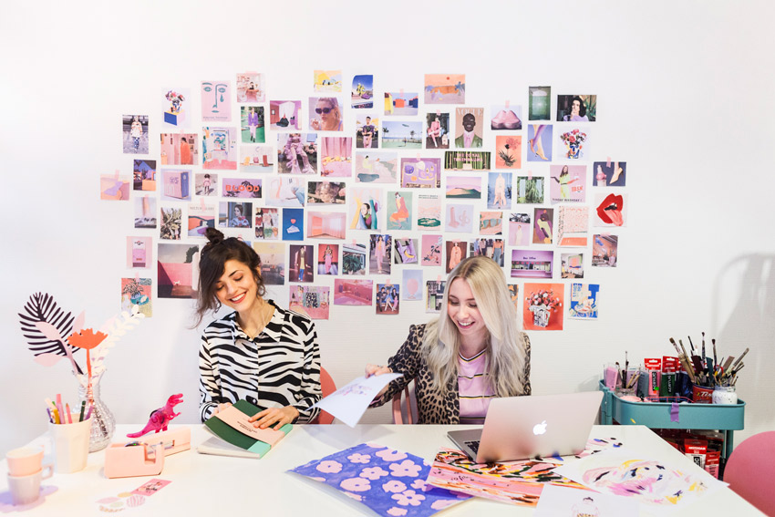 The Creative Duo Of French Toast Studio At Their Work Station On Design*Sponge