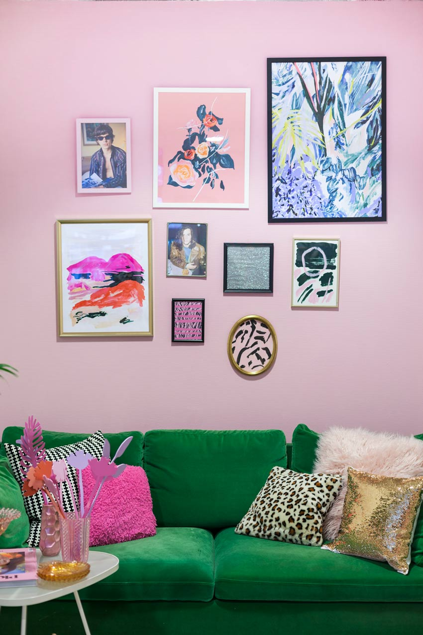 A Pink Corner Of The Studio With Tour On Design*Sponge