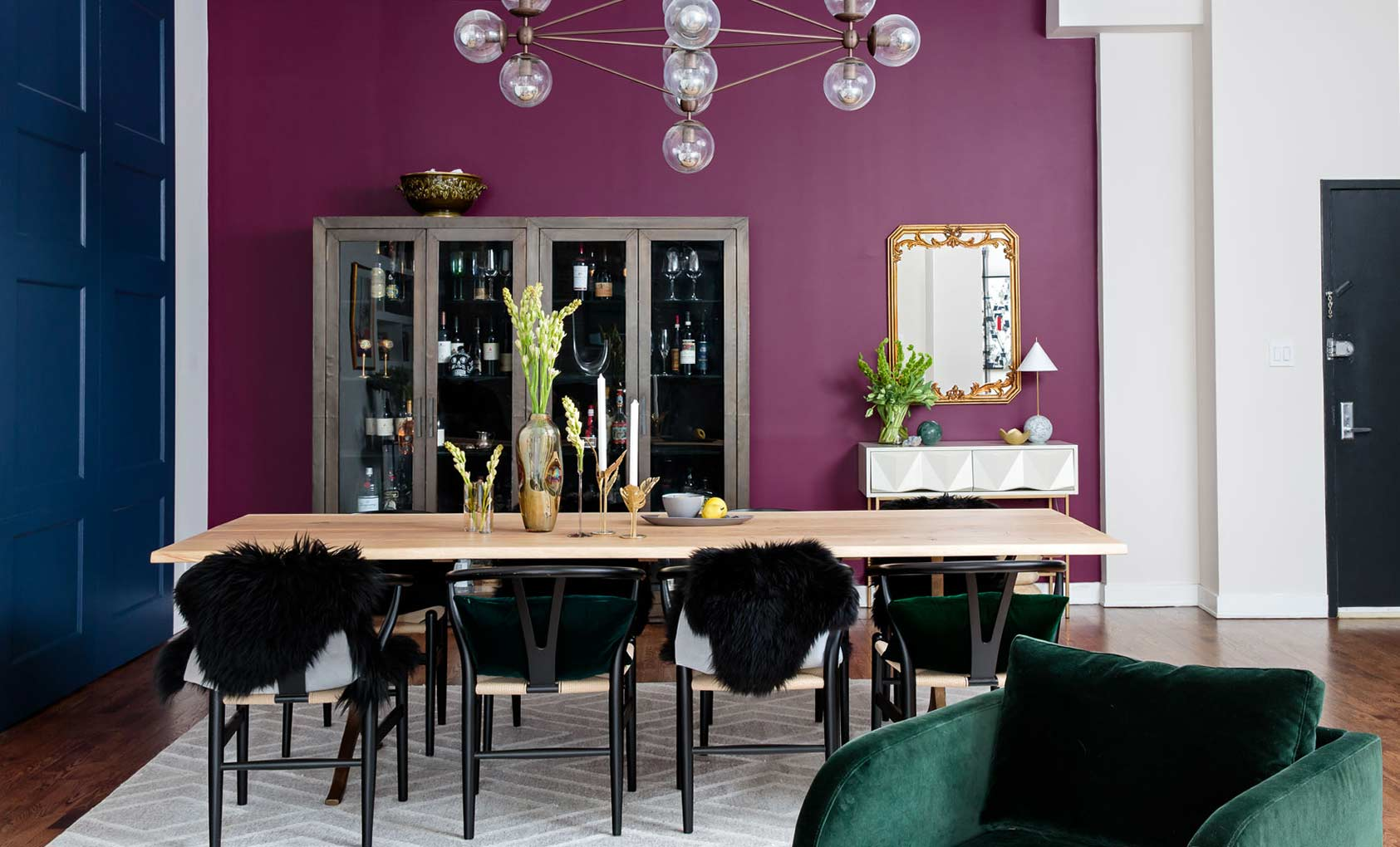 A Plush Chelsea Loft Encrusted in Jewel Tones, Design*Sponge