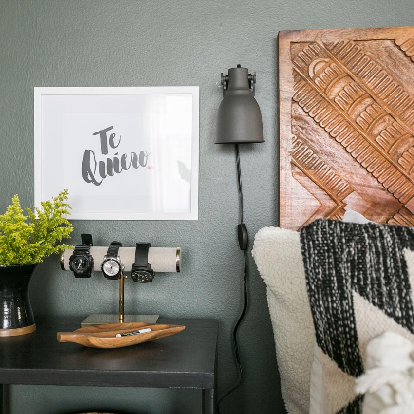 A Sentimental Message Is Displayed Next To The Bed In This Chicago Home Tour On Design*Sponge