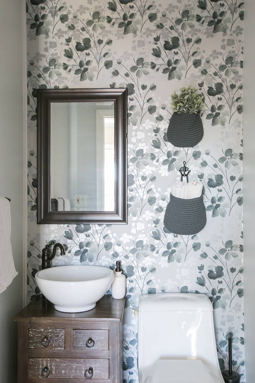 A Small Bathroom With Creative Details On Design*Sponge