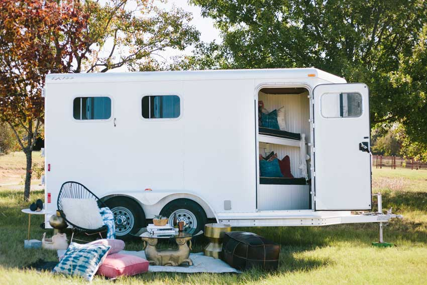 Before After A Horse Trailer Becomes A Chic Refuge For Competitions Design Sponge