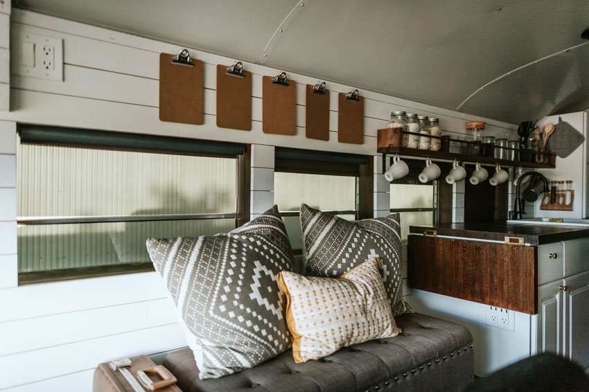 Still Room For Lounging Within The Two Hundred Square Feet Of The Bus Tour On Design*Sponge