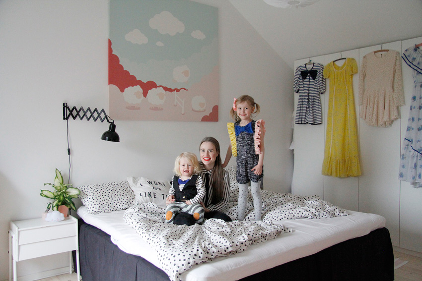 Most Of The Occupants Of The Bed In The Master Bedroom Most Nights Swedish Home Tour On Design*Sponge