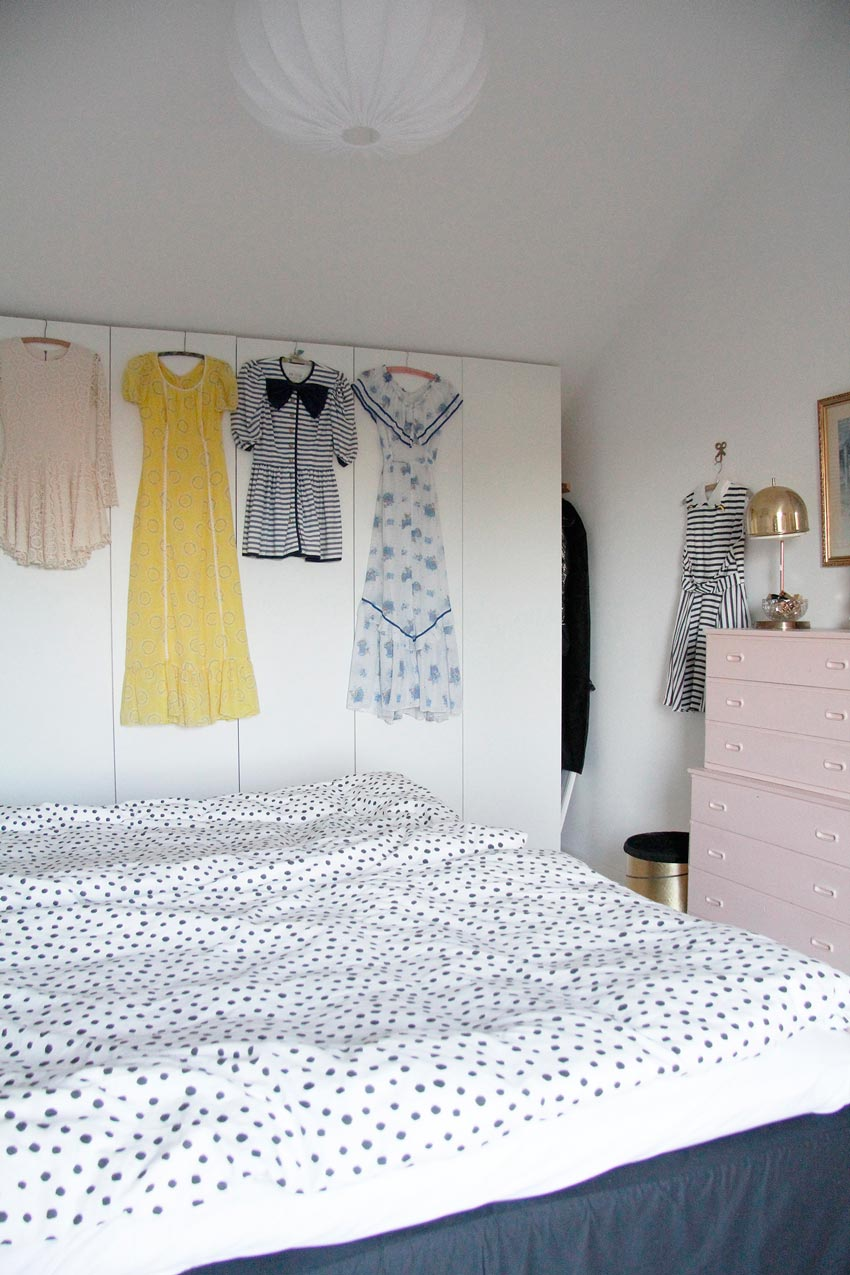 The Closet Is Adorned With Beautiful Vintage Dresses In This Swedish Home On Design*Sponge
