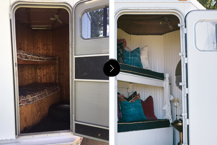 A Horse Trailer Becomes A Chic Refuge For Competitions Before And After On Design*Sponge