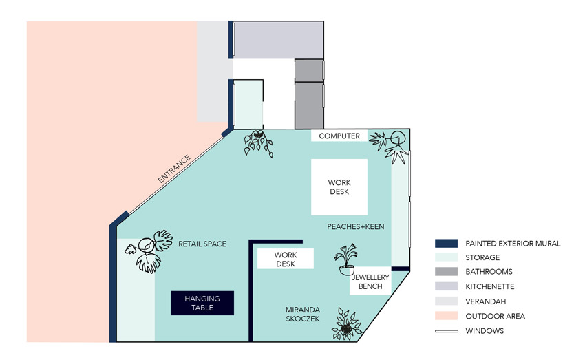 The Botanical Calamity Floor Plan Shop Tour On Design*Sponge