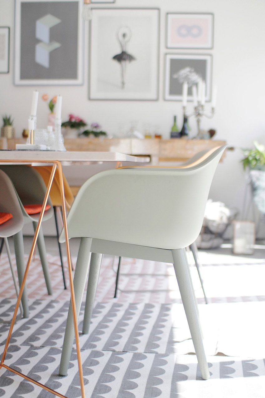 Pastel Chairs With Beautiful Form Add Charm To The Dining Room On Design*Sponge
