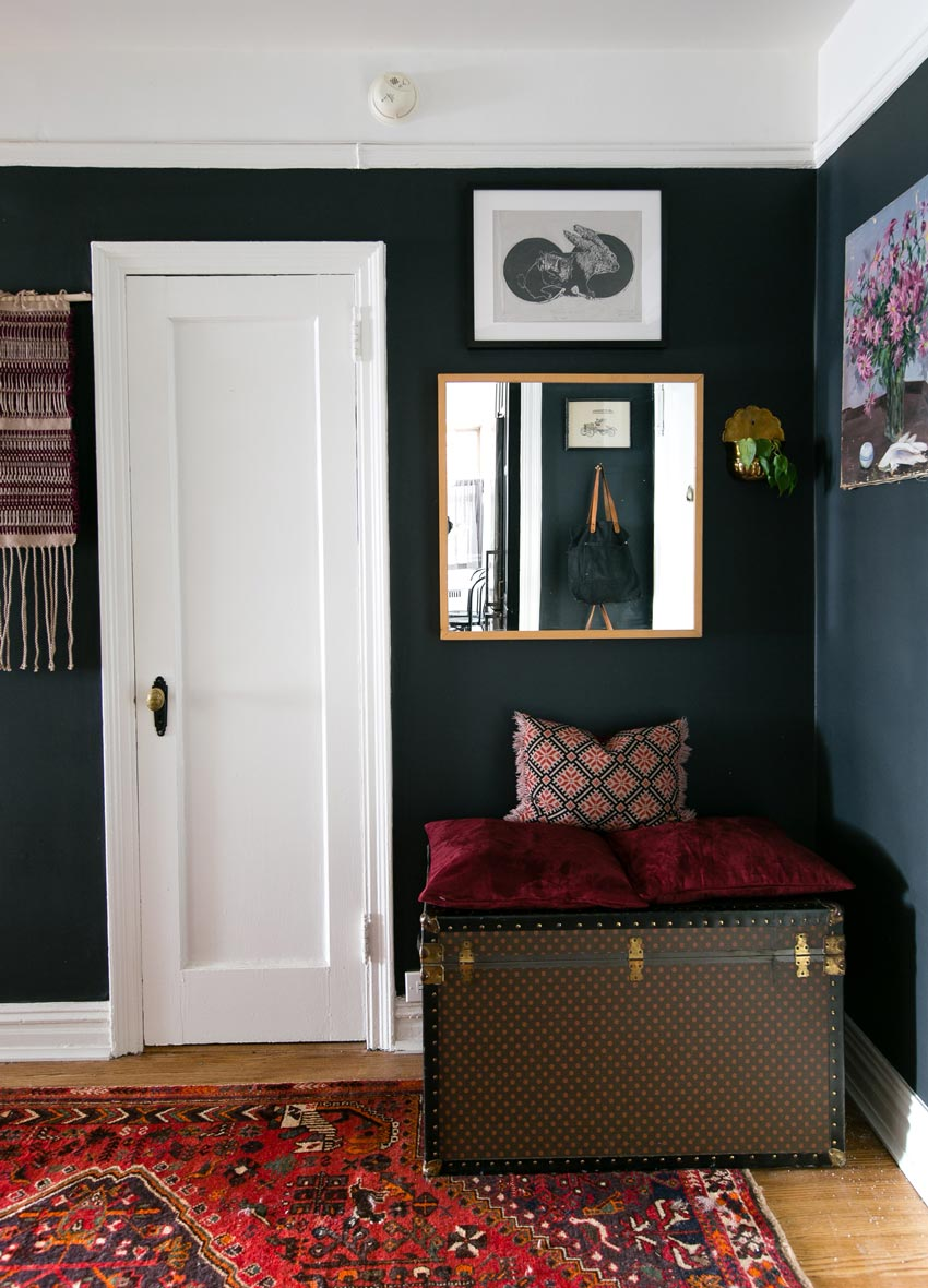 A Contrasting Foyer In Brooklyn Foyer On Design*Sponge