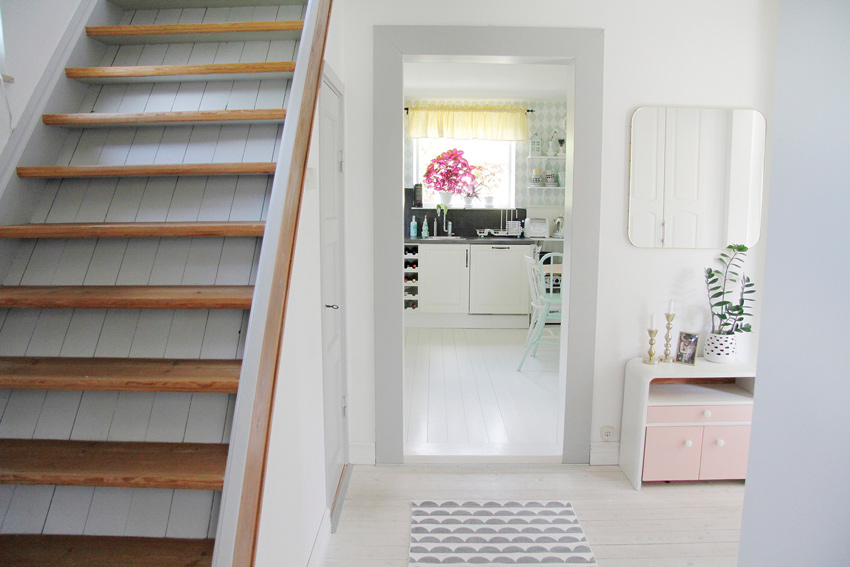 A Very Steep Staircase Is One Of The Lasting Original Details From The Home Tour On Design*Sponge