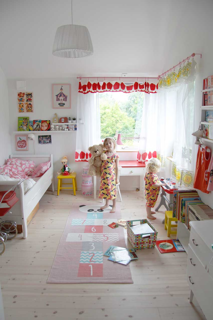 Cheerful Details Run Rampant In This Swedish Girls Room On Design*Sponge