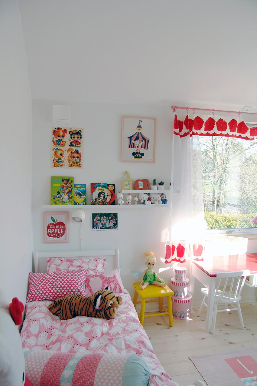 Playful Colors Fill This Little Girls' Room In Sweden Full Tour On Design*Sponge