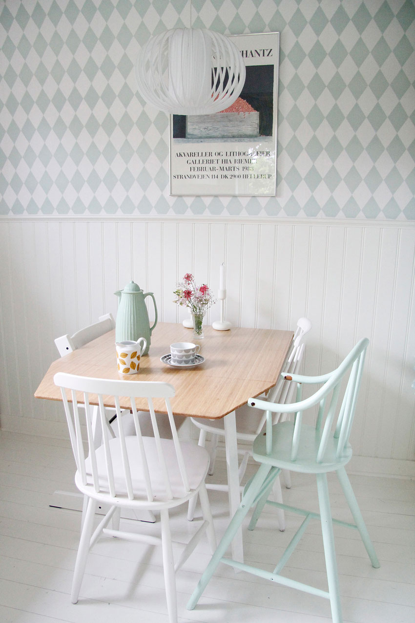 A Petite Kitchen Table Perfect For Family Breakfast In Sweden On Design*Sponge
