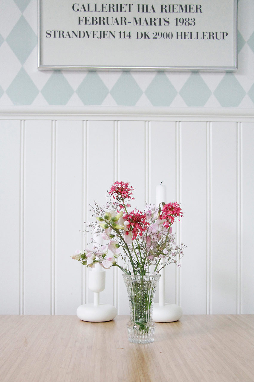 Fresh Flowers From The Garden Adorn The Kitchen Table In Sweden Home Tour On Design*Sponge