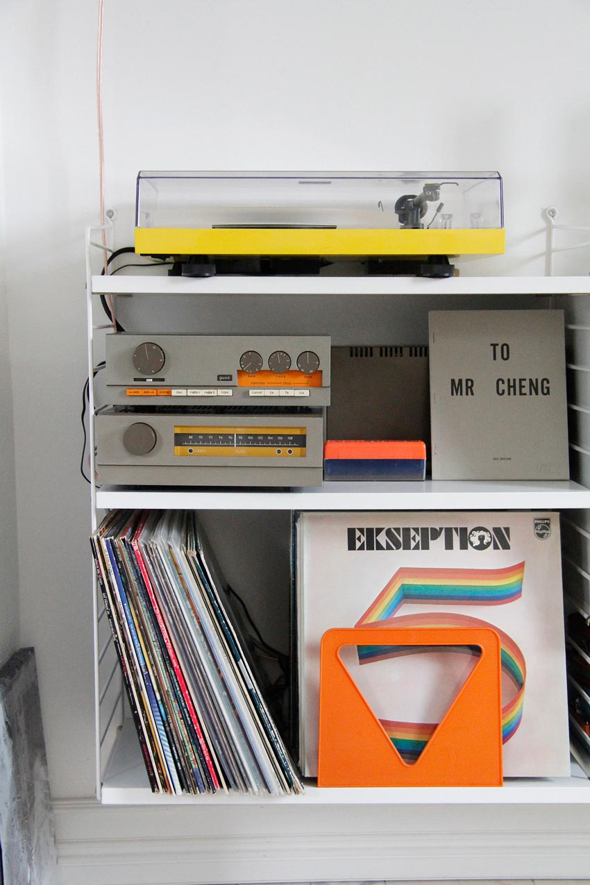 A Collection Of Vintage Records In This Colorful Swedish Home On Design*Sponge
