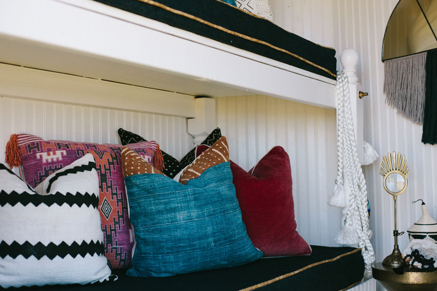 A Plush Seating Area Is Tucked Into The Horse Trailer Before And After On Design*Sponge