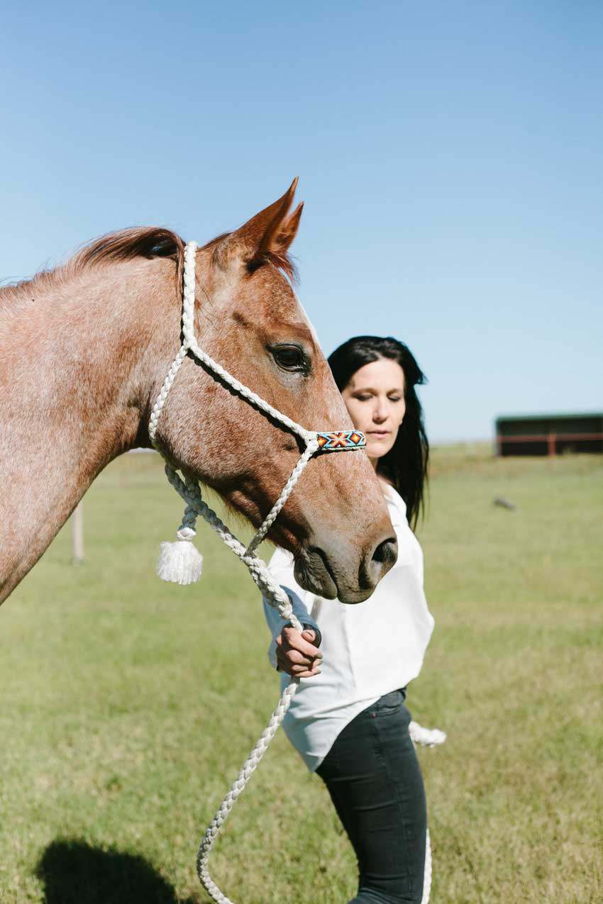 Simone Howell And Her Horse The Lucky Recipients Of The Revamped Horse Trailer Tour On Design*Sponge