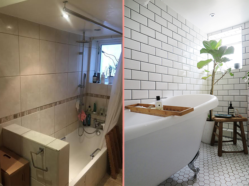 Before & After: An All-Beige Bathroom Becomes a Scandinavian-Inspired Sanctuary | Design*Sponge