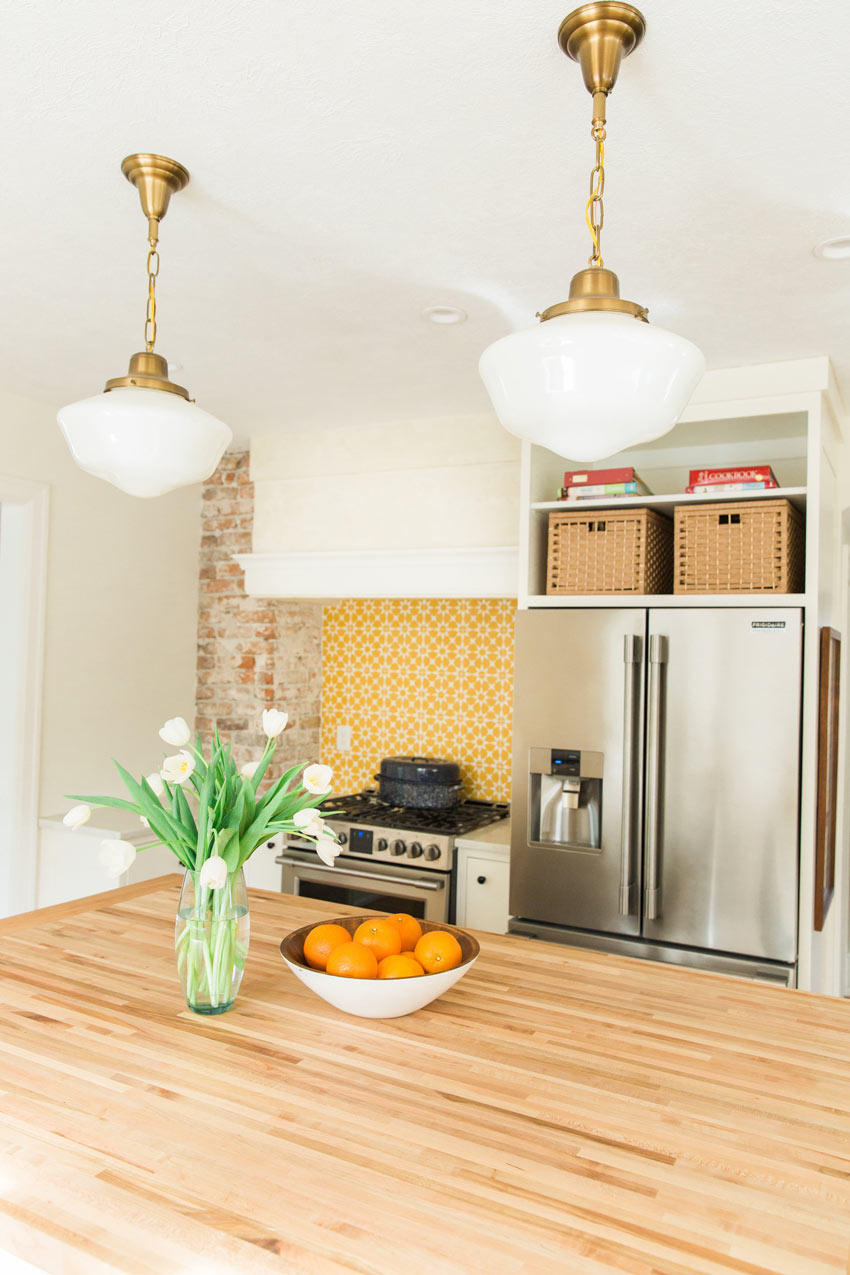 An Original Chimney Was Unearthed In This Kitchen's Renovation Tour On Design*Sponge
