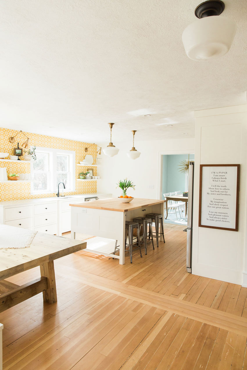 A Bright Kitchen With The Family Motto Hanging Proudly Tour On Design*Sponge