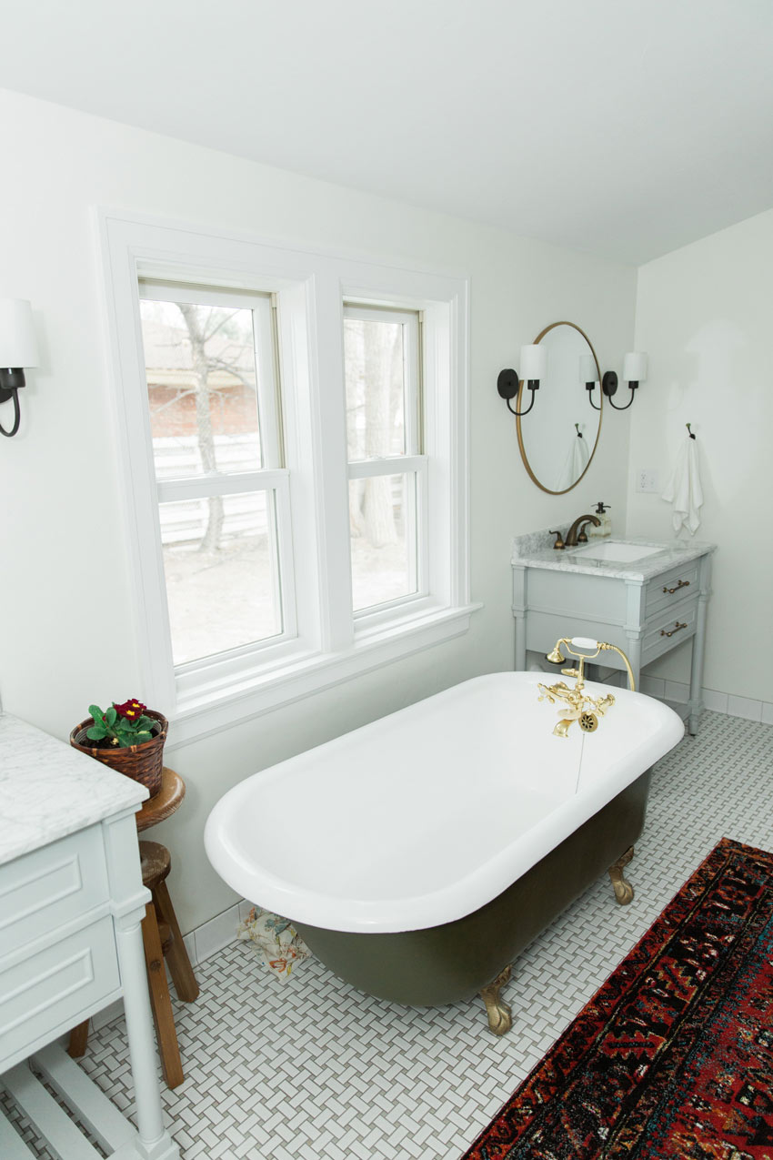 The Master Bathroom Had An Original Claw Foot Tub Moved In From Another Area Of The Home Full Tour On Design*Sponge