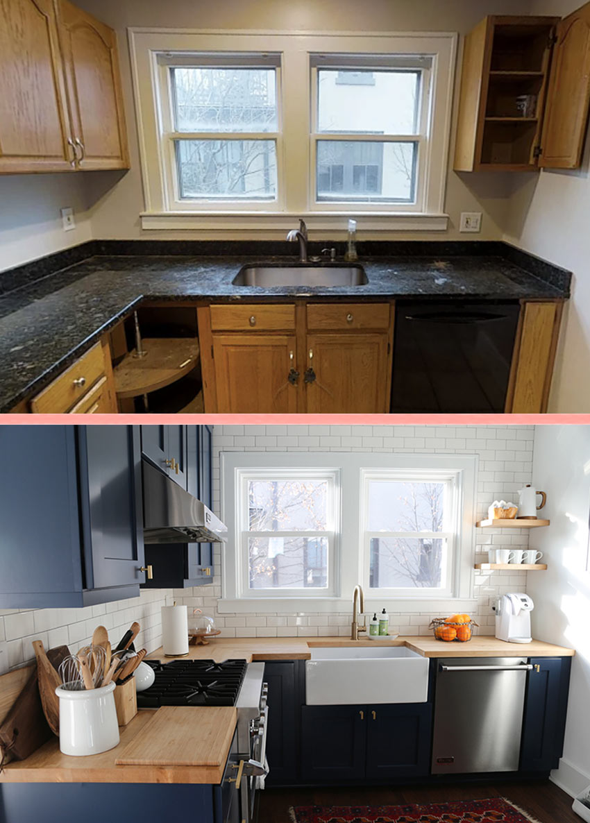Before And After Kitchen Full View Tour On Design*Sponge