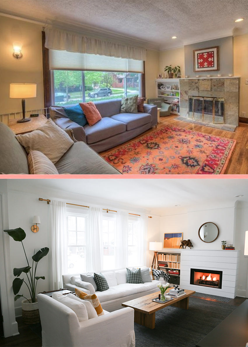 A Living Room In Michigan Gets A Refresh Before And After Tour On Design*Sponge