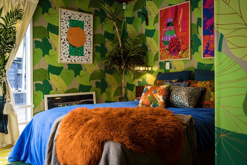 Evie Kemp And Sam Holfordu0027s Home In Auckland, New Zealand Is An Immersive  Experience, Where Patterns Drip From Every Surface, Bold Colors Pull You  In, ...