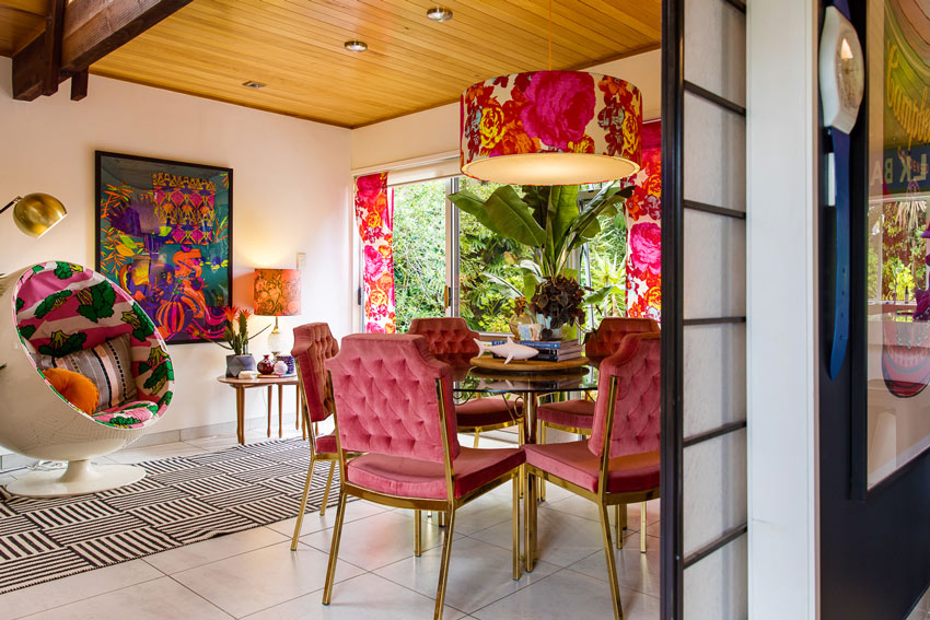 The Fun Colors Continue In Evie Kemp's Dining Room On Design*Sponge