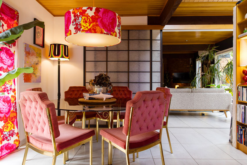 A Pink Dining Room In New Zealand On Design*Sponge