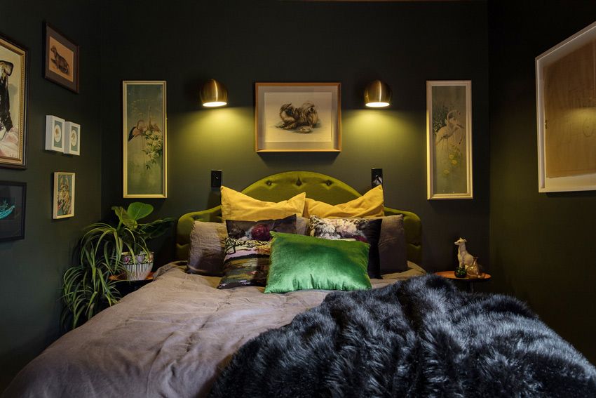 A Moody Guest Room In This New Zealand Home Tour On Design*Sponge