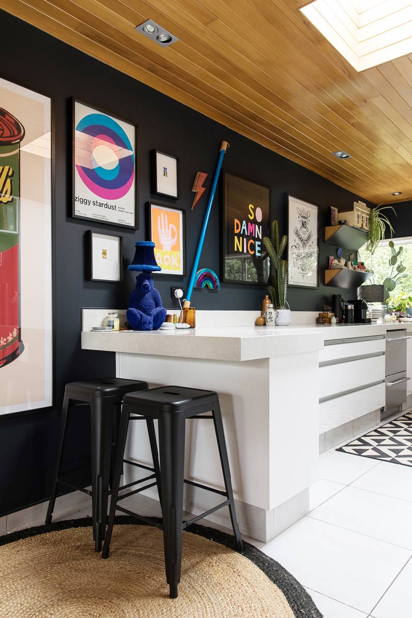 Art Covers All The Walls In This New Zealand Home Including The Kitchen Full Tour On Design*Sponge