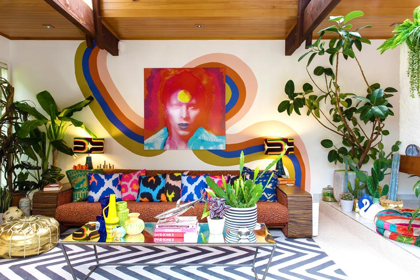 A Hand Painted Mural In This Incredible New Zealand Home On Design*Sponge